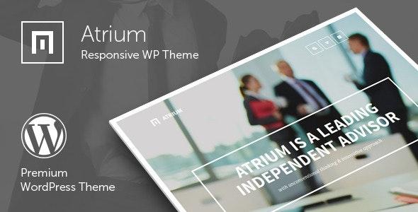 Atrium - Finance Consulting Advisor WordPress Theme - Business Corporate