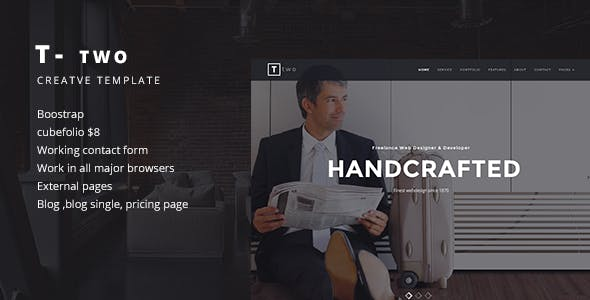 T- TWO Creative Business Template