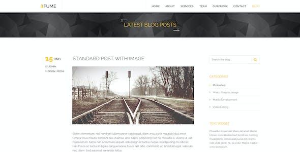 Fume   Multi-Purpose Parallax PSD Landing Page