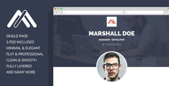 MD - Resume PSD Template - Personal PSD Templates