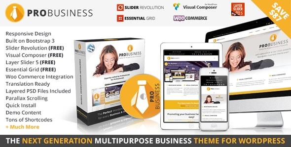 PRO Business - Responsive Multi-Purpose Theme - Business Corporate