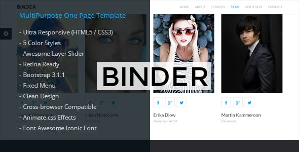 Binder - Corporate HTML5 Template