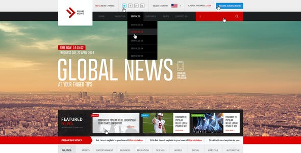 Prime News-Online News and Magazine Template