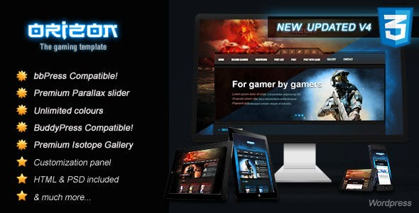 Game Templates from ThemeForest