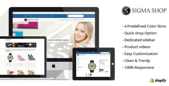 Sigma | Responsive Multipurpose Shopify Theme - Shopify eCommerce