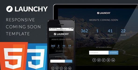 Launchy - Responsive Coming Soon Template