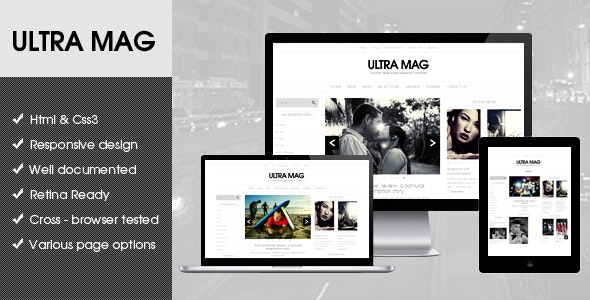 Ultra Mag HTML5 template - Corporate Site Templates