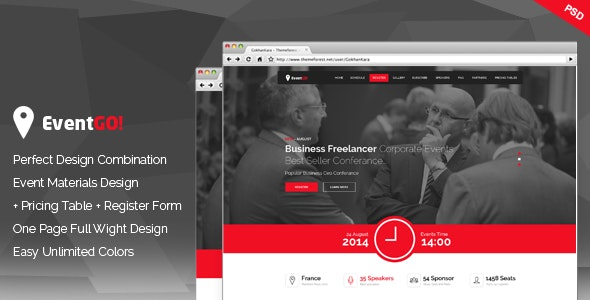 EventGo - Onepage Event Landing Page - Events Entertainment
