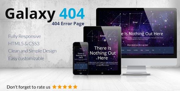 Galaxy404 - Responsive 404 Template
