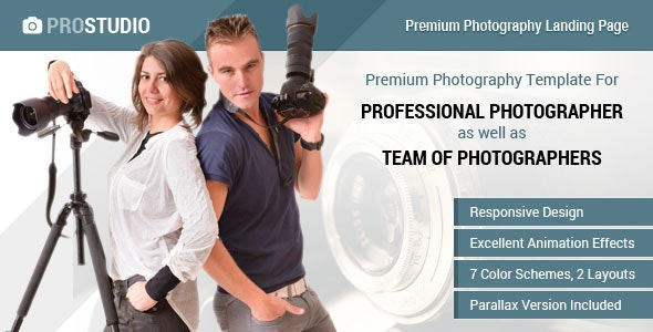 Professional Photography Responsive Landing Page - Photography Creative