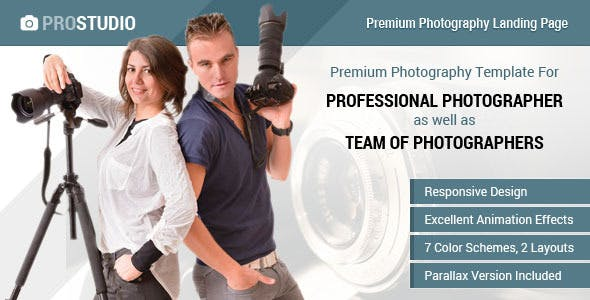 Professional Photography Responsive Landing Page
