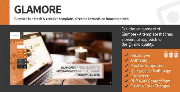 Glamore - Freshly Different Sidebar Template