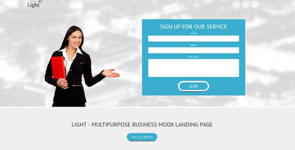 Download Light - Business MODX landing page