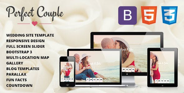 Perfect Couple - Responsive Wedding Site Template