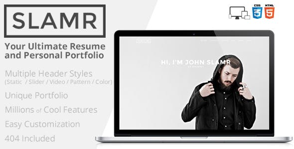 SLAMR - Ultimate Resume and Personal Portfolio