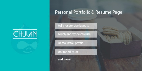Chulan - Personal Portfolio & Resume Drupal Theme - Personal Blog / Magazine
