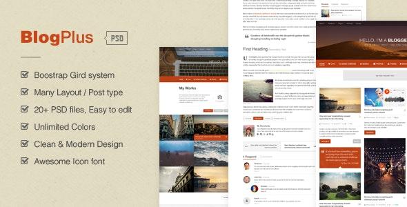 BlogPlus - Blog/Portfolio PSD Template - Miscellaneous Photoshop