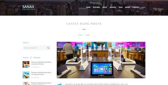 Sanax   Multi-Purpose Parallax PSD Landing Page