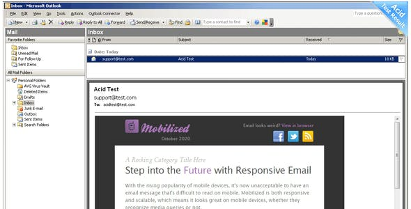 Mobilized-I - Responsive & Modular Email Templates
