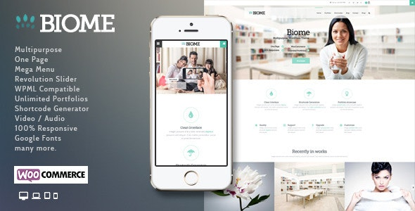 Biome | Multi-Purpose WordPress Theme - Corporate WordPress