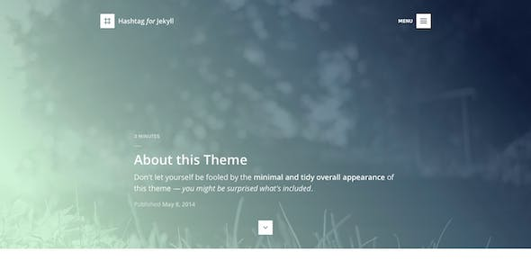 Hashtag for Jekyll - An Elegant Blog Theme