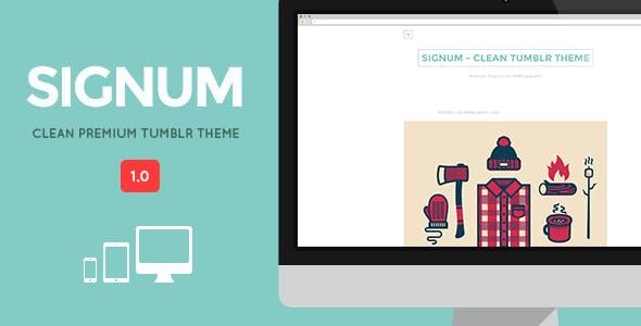 SIGNUM - Clean Responsive Tumblr Theme