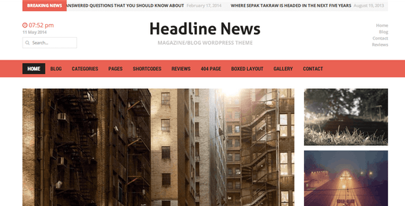 Headline News - Clean and Modern Magazine Theme