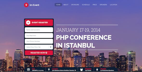 im Event - One Page Event and Conference Template