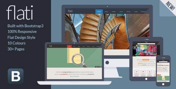 Flati - Responsive Flat Design Bootstrap Template by SpiralPixelDesign
