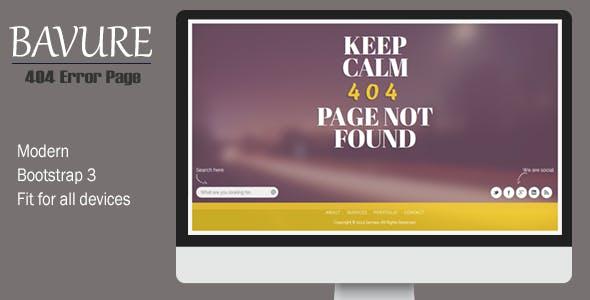 Bavure - Responsive 404 Error Template