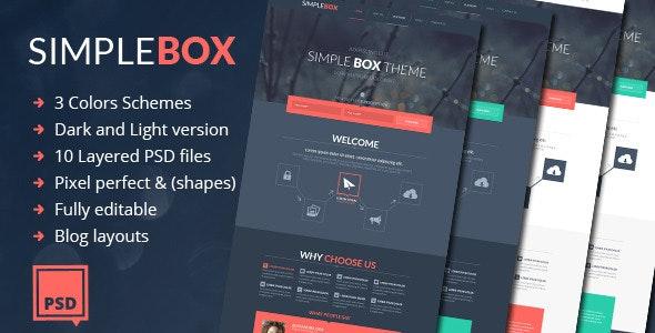 Simple Box - One Page Multi-Purpose Psd Theme - Business Corporate