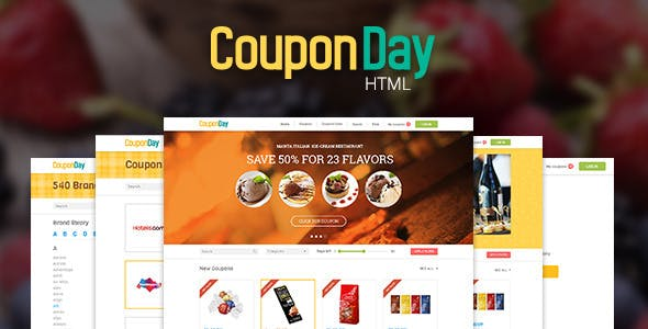 CouponDay - Clean and Premium Coupon Template