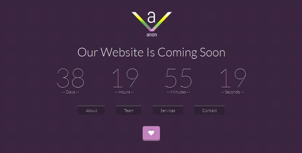 Anon coming soon template