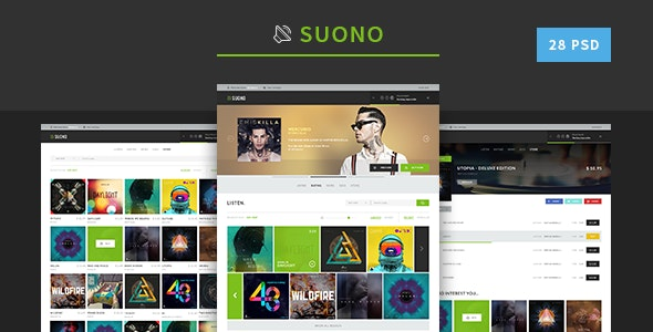 Suono - Music Template - Photoshop UI Templates