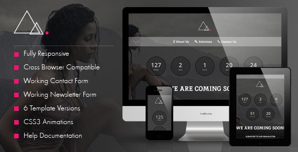 Triangles - Responsive Coming Soon Template - Under Construction Specialty Pages