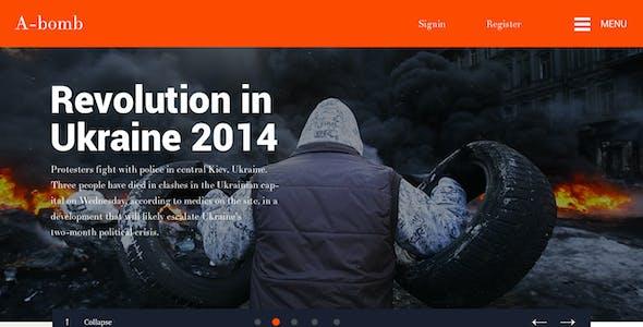 A-Bomb   News & Blog & Magazine Template