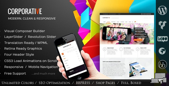 Corporative - Multipurpose WordPress Theme - Corporate WordPress