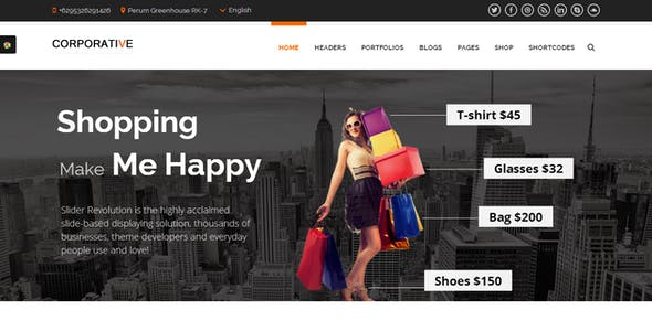 Corporative - Multipurpose WordPress Theme