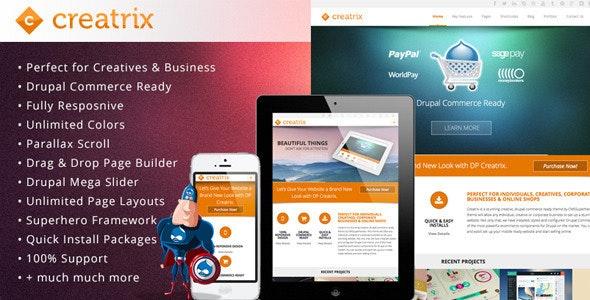 Creatrix - Drupal Commerce, Multipurpose Theme - Creative Drupal