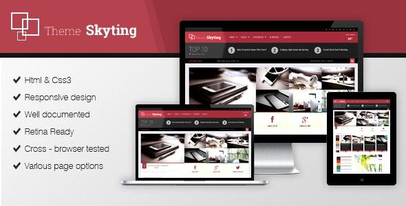Skyting Magazine WordPress theme - Blog / Magazine WordPress