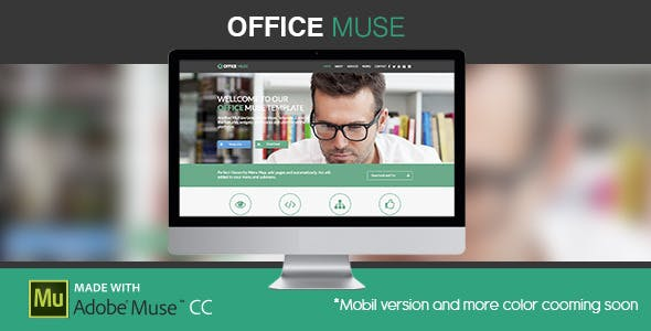 Office Muse | Adobe Muse Template
