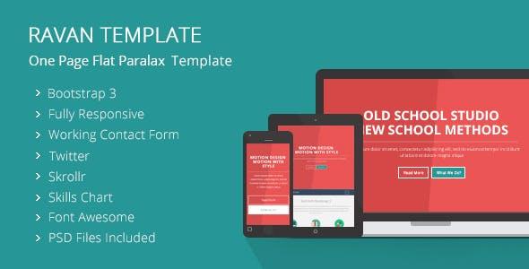 Ravan - One Page Parallax Flat Responsive Template