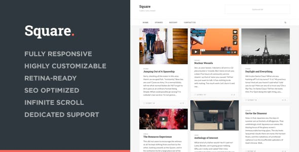 Square Up Website Templates From Themeforest