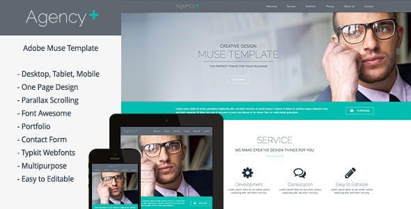 AgencyPlus - One Page Multi-Purpose Muse Template