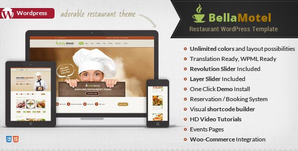 Bella - Food Recipes WordPress Theme