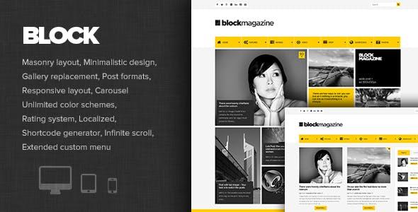 Block Magazine - Flat and Minimalist Blog Theme