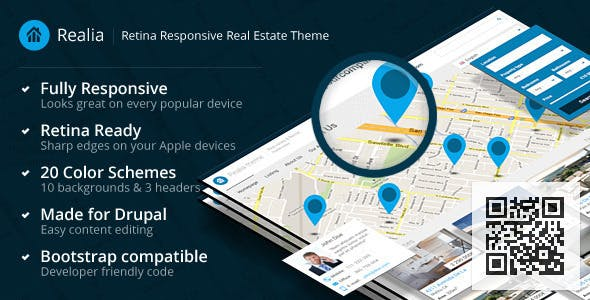 Realia - Responsive Real Estate Drupal Theme