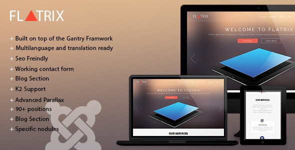 Flatrix - One Page joomla! template - Creative Joomla