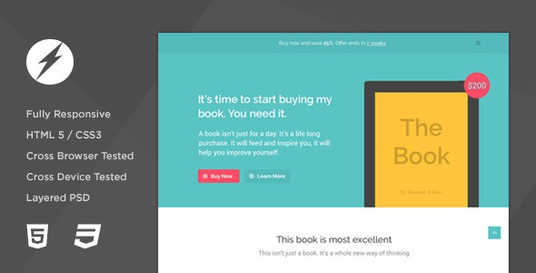 TheBook - App / eBook HTML5 + CSS3 Landing Page - Marketing Corporate