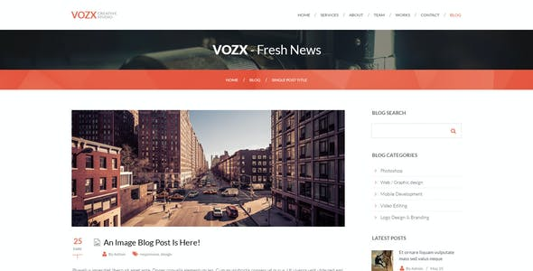 Vozx   Multi-Purpose Parallax PSD Landing Page